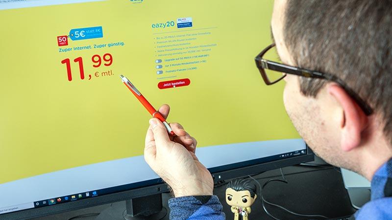 Eazy Internet Angebote starten ab 11,99 € pro Monat