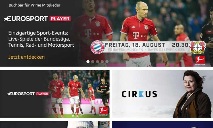 Eurosport Player als Amazon Channel