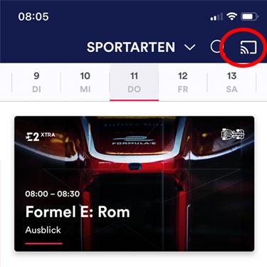 Eurosport Player App Cast-Symbol