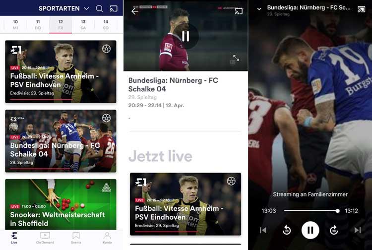 Eurosport Player App: Fußball streamen