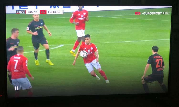Eurosport Player auf dem Fernseher