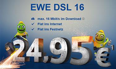 Screenshot Online-Shop EWE DSL