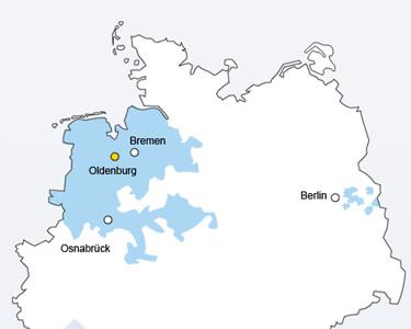 EWE DSL Verbreitungsgebiet