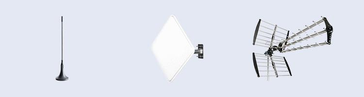 Antennen für DVB-T2- Zimmer-, Außen- und Dachantenne