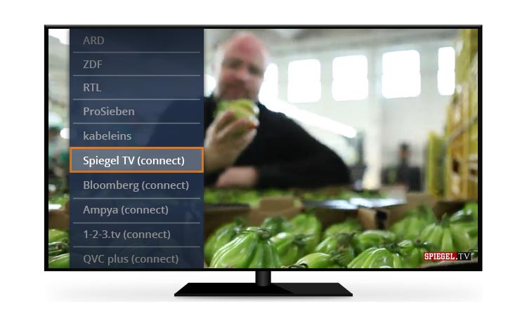 Freenet TV Connect Programmauswahl