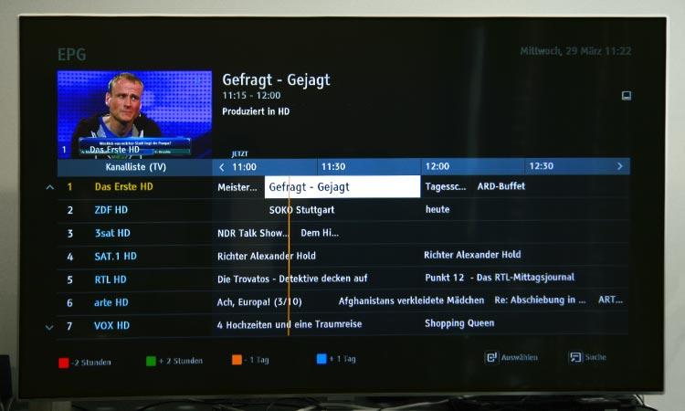 Freenet TV Test - Elektronischer Programmführer (EPG)
