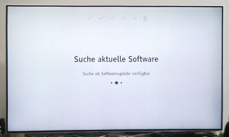 Einrichtung Freenet TV Receiver (Schritt 6):  Software-Aktualisierung