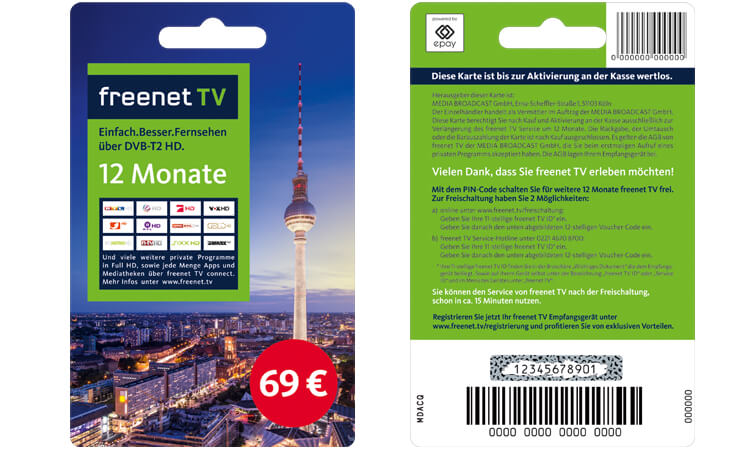 Freenet TV Guthabenkarte