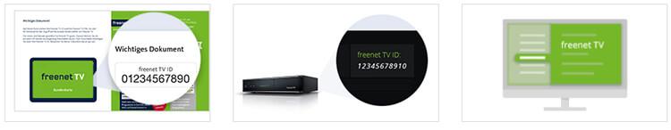 Freenet TV ID finden