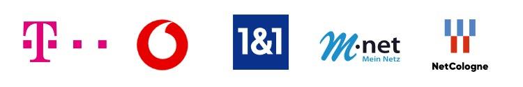 Logos IP-TV Anbieter