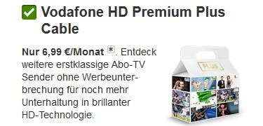 Buchung von HD Premium Plus