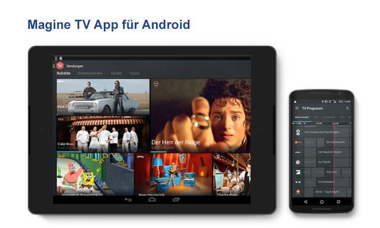 Magine TV Android App