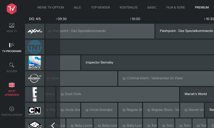 Magine TV: Elektronischer Programmführer Premium-Sender