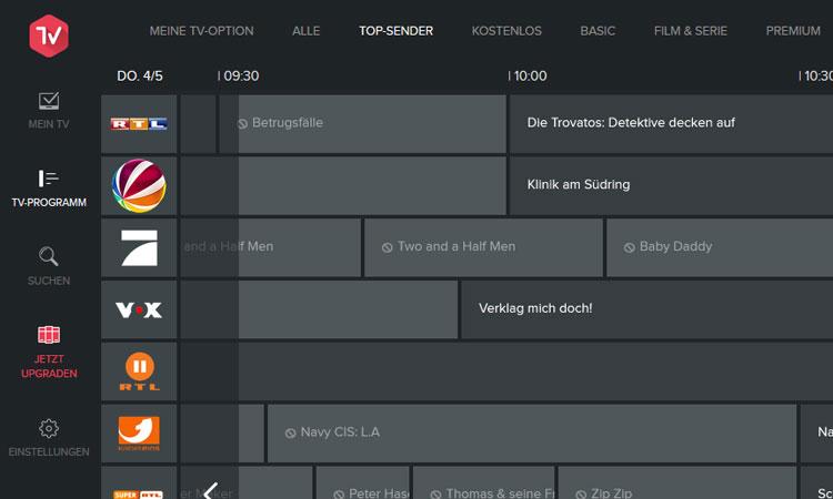 Magine TV: Elektronischer Programmführer Top-Sender