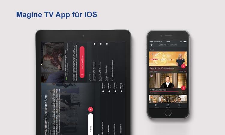 Magine TV iOS App