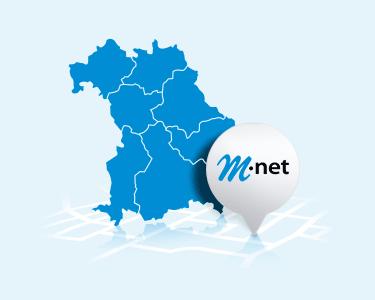 M-net Verfügbarkeit vorwiegend in Bayern gegeben