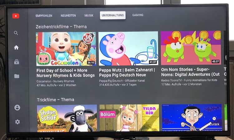 Youtube App auf der M-net TV Box