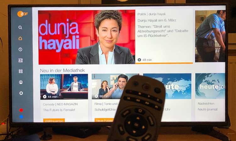 ZDF Mediathek auf der M-net TV Box