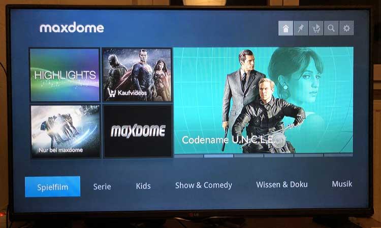 Maxdome auf M-net TV Plus