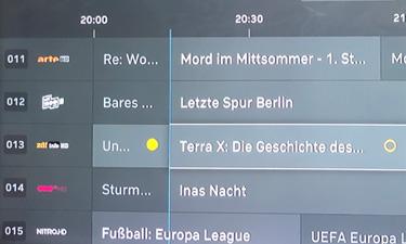 M-net TV: Sendungen aufnehmen und Aufnahmen programmieren