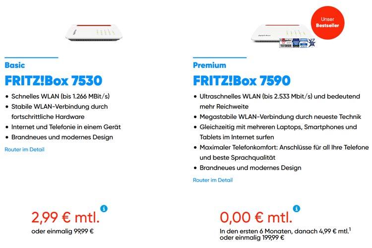 NetAachen WLAN Router Auswahl