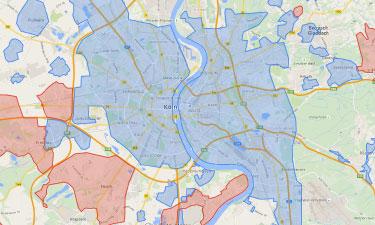 NetCologne Internet Verfügbarkeit in Köln