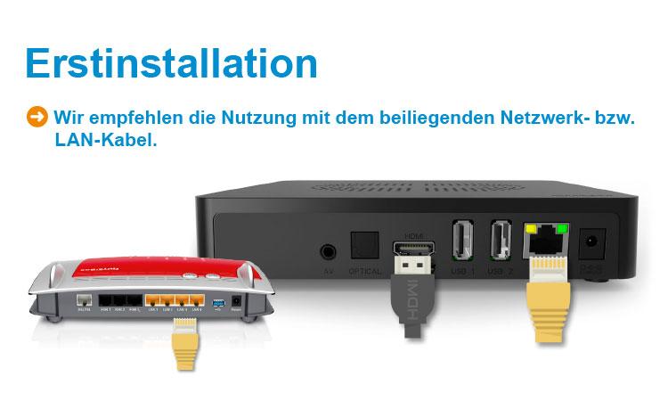 NetCologne NetTV-Box: Am besten per Netzwerkkabel anschließen