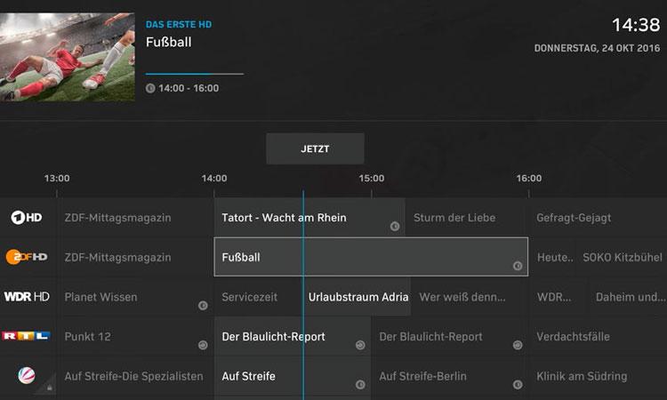 NetCologne NetTV-Box: Programmübersicht