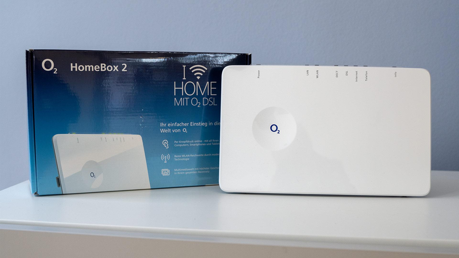 o2 HomeBox 2 mit Verpackung