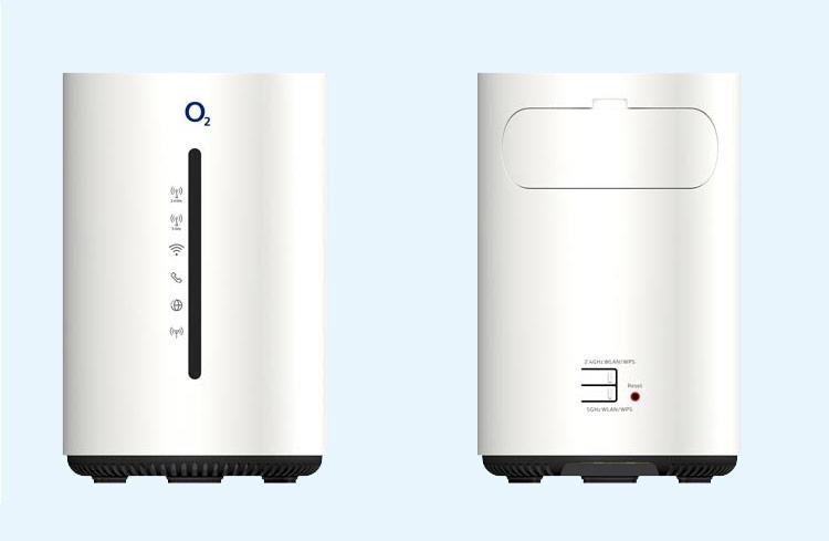 o2 Homespot LTE Router Vorderseite und Rückseite
