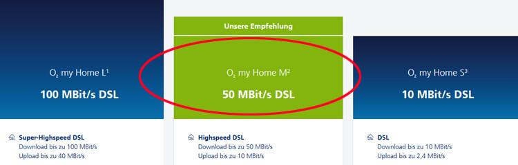 o2 Internet Empfehlung: o2 my Home M