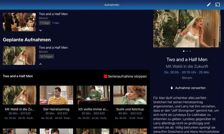 o2 TV Test Serienaufnahmen