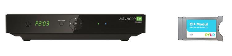 PYUR Advance TV Box und PYUR CI-Modul