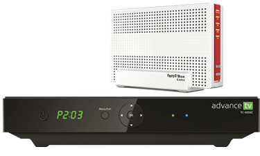 PYUR Advance TV Box und Fritz!Box 6491