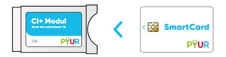 PYUR CI+-Modul und PYUR Smartcard