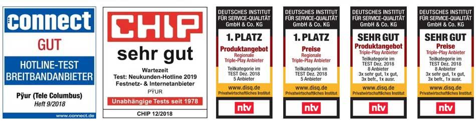 Pyur Testsiege Logos