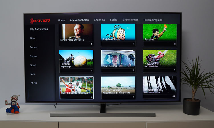 Save TV auf dem Fernseher