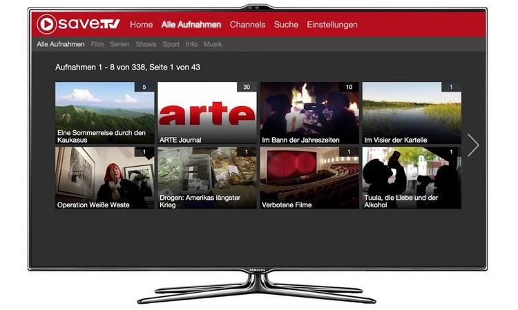 Save TV auf Smart TV