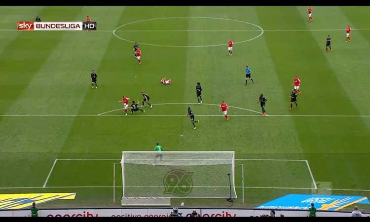 Screenshot Fußball bei Sky Go