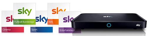 Sky Pakete und Sky Q Receiver