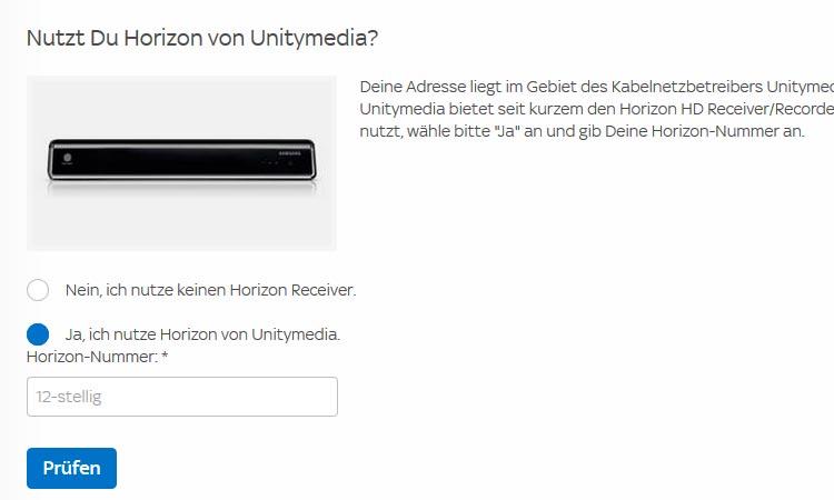 Sky bei Unitymedia