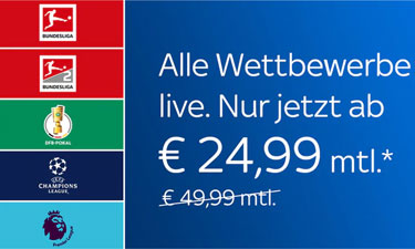 Sky Bundesliga Special ab 19,99 € mtl.