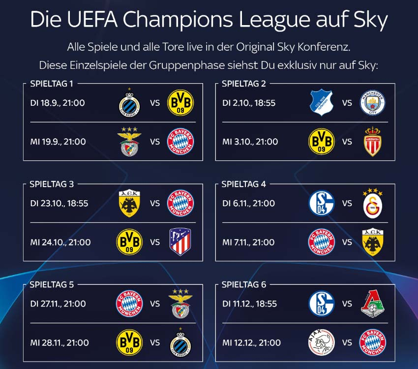 champions league 2019 live im tv