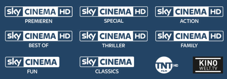 TV-Sender aus dem Sky Cinema Ticket