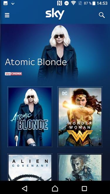 Screenshot Sky App für Android