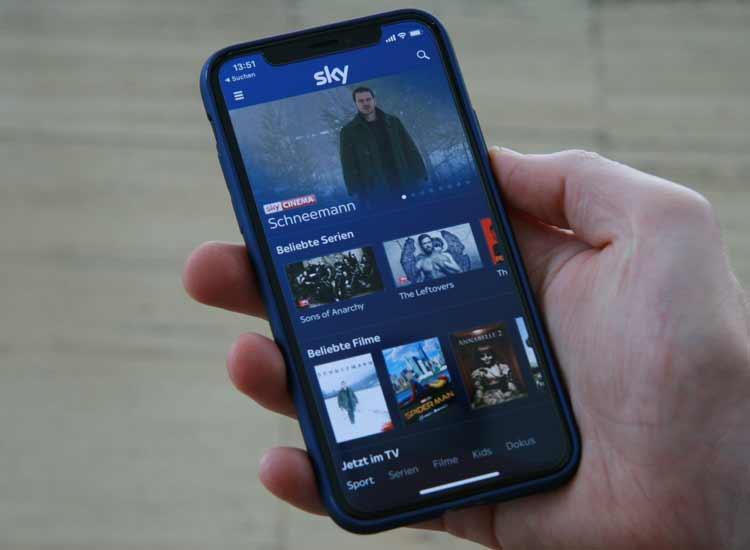 Sky Go auf dem iPhone