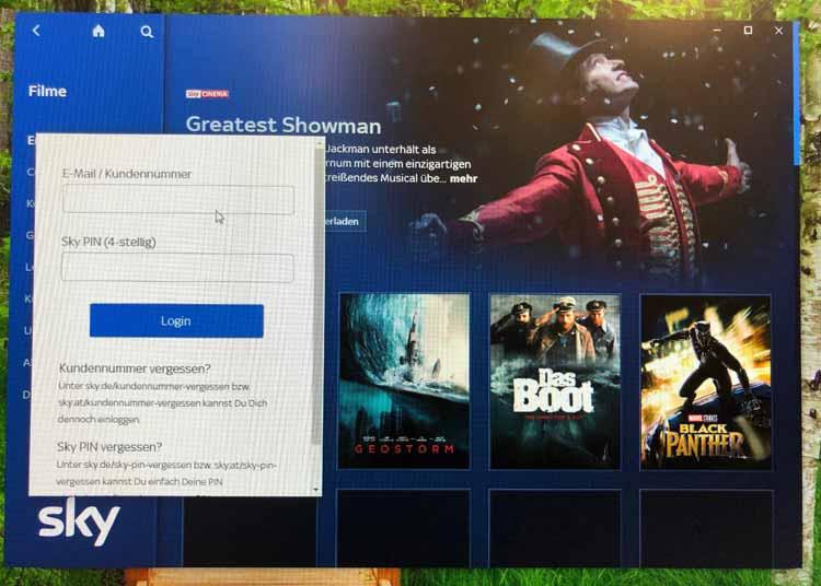 Sky Go Desktop App