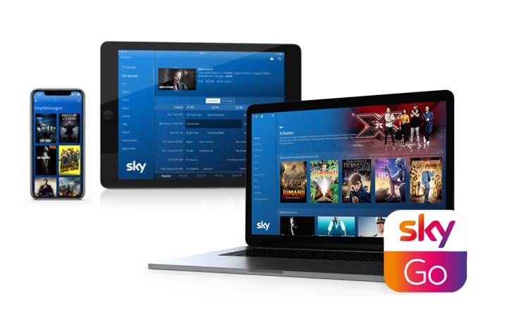 Sky Empfangsgeräte: Smartphone, Tablet, Computer