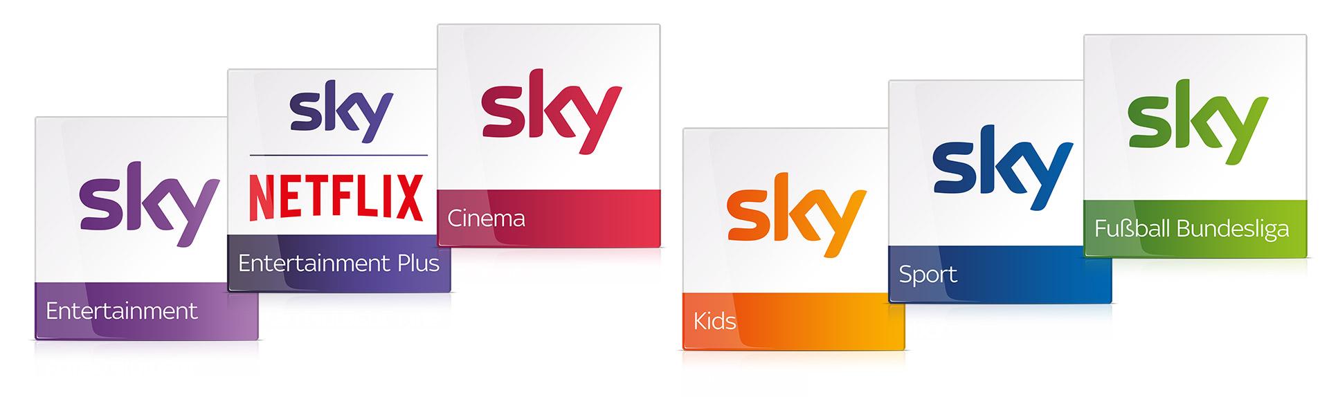 Sky Pakete - Schema Zusammenstellung des Sky Programms