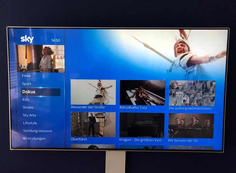 Sky Q App auf Apple TV